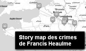 Carte des crimes de Francis Heaulme